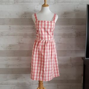 NWT J. Crew pink gingham dress